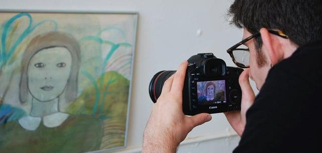 CIP Student Joe Interning at Blue Line Media